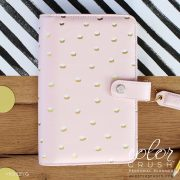 Personal Planner - Blush and Gold Foil Dots