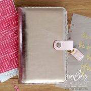 Personal Planner - Platinum Rose